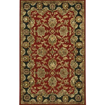 Bliss Red/Black Area Rug Rug Size: 79 x 106
