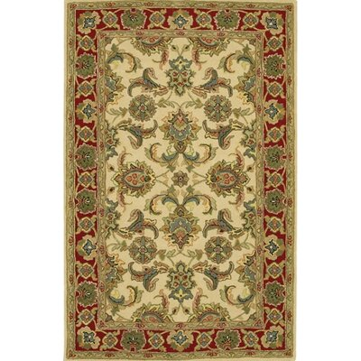 Bliss Tan/Green Area Rug Rug Size: 79 x 106