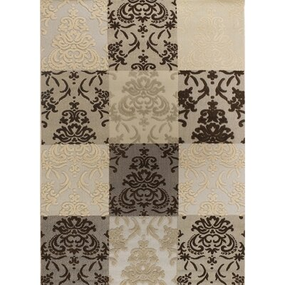 Dom Brown & White Indoor/Outdoor Area Rug Rug Size: 53 x 76
