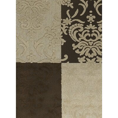 Dom Brown & Tan Indoor/Outdoor Area Rug Rug Size: 111 x 37