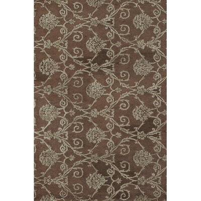 Bertram Brown / Grey Area Rug Rug Size: Rectangle 79 x 106