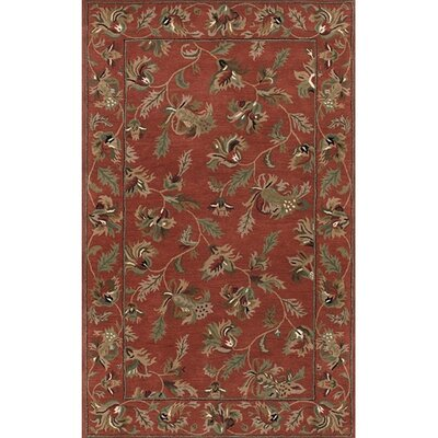Chesney Red Area Rug Rug Size: Rectangle 2 x 3