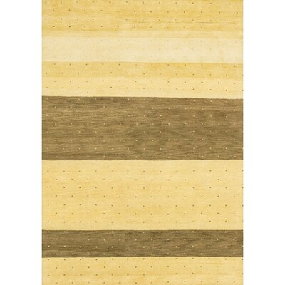 Gracen Striped Brown / Tan Area Rug Rug Size: Round 79