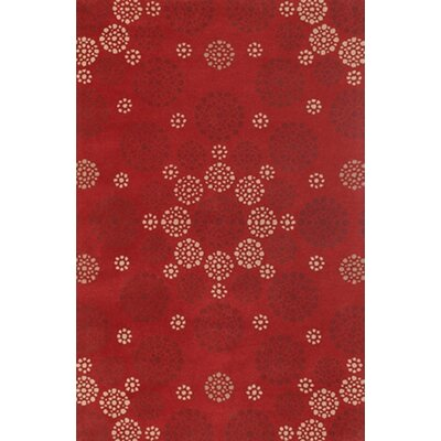 Condit Red Area Rug Rug Size: 2 x 3