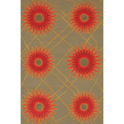 Steveson Contemporary Wool Rug Rug Size: Rectangle 79 x 106