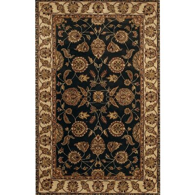 Curland Brown/Black Area Rug Rug Size: Rectangle 79 x 106