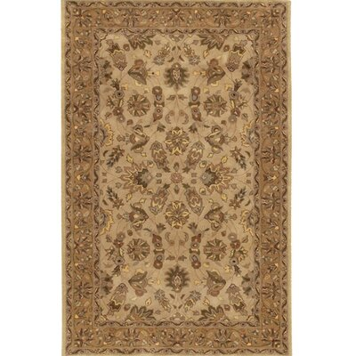 Curland Wool Brown/Tan Area Rug Rug Size: Round 79