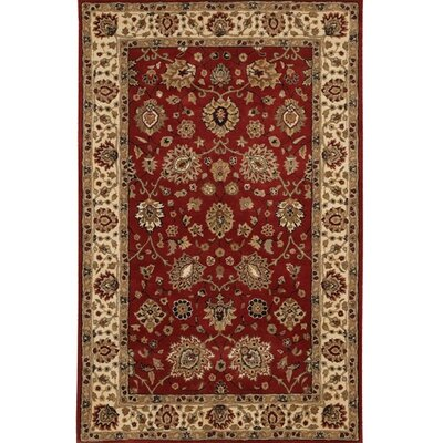 Curland Brown/Red Area Rug Rug Size: Rectangle 2 x 3