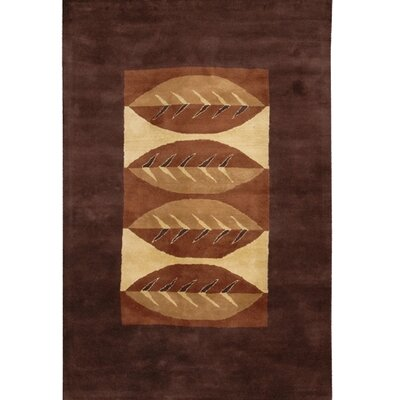 Castlewood Wool Brown/Tan Area Rug Rug Size: Round 79