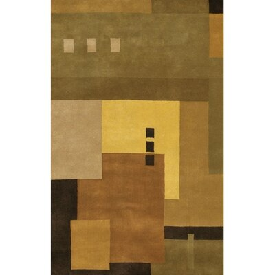 Quinonez Wool Brown/Tan Area Rug Rug Size: Rectangle 79 x 106