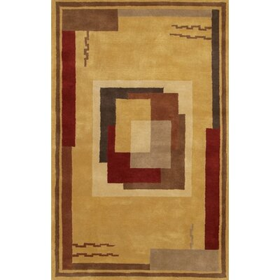 Castlewood Brown/Tan Area Rug Rug Size: Rectangle 2 x 3
