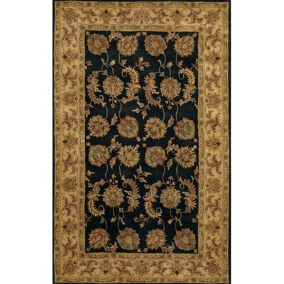 Angel Black/Gold Area Rug Rug Size: Rectangle 79 x 106