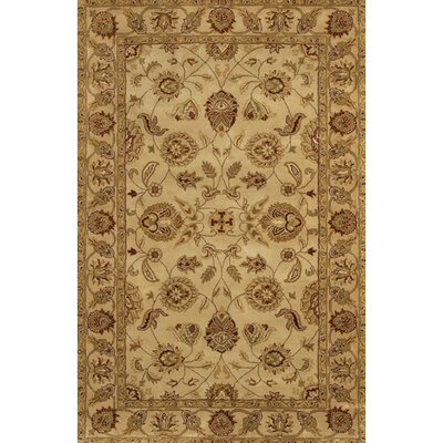 Curland Brown/Tan Oriental Area Rug Rug Size: Rectangle 79 x 106