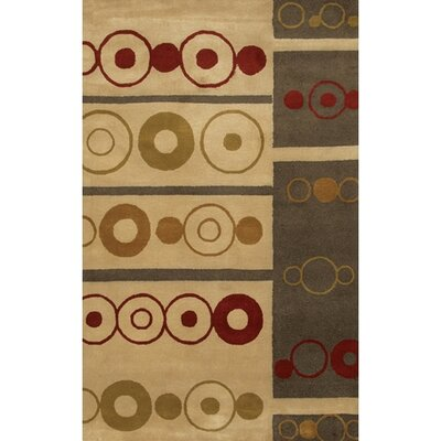 Quinonez Brown/Tan Geometric Area Rug Rug Size: Round 79