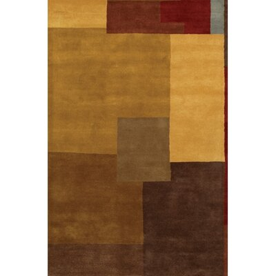 Quinonez Brown/Tan Abstract Area Rug Rug Size: Rectangle 2 x 3