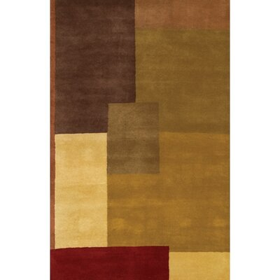 Quinonez Wool Brown/Tan Abstract Area Rug Rug Size: Rectangle 2 x 3