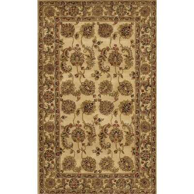 Angel Handmade Brown/Tan Area Rug Rug Size: Rectangle 5 x 76
