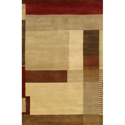 Quinonez Brown/Tan Area Rug Rug Size: Rectangle 5 x 76
