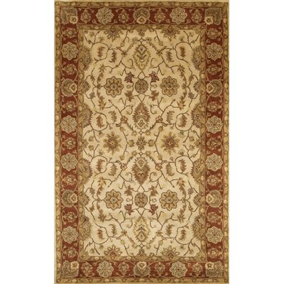 Angel Brown/Tan Oriental Area Rug Rug Size: Rectangle 5 x 76