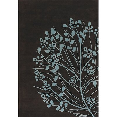 Brown/Blue Area Rug Rug Size: Rectangle 79 x 106