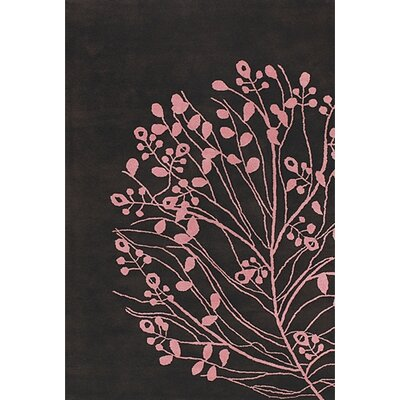 Brown/Pink Area Rug Rug Size: Rectangle 79 x 106