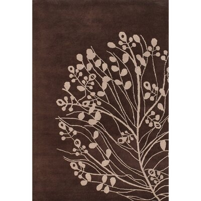 Brown/Tan Area Rug Rug Size: Rectangle 79 x 106