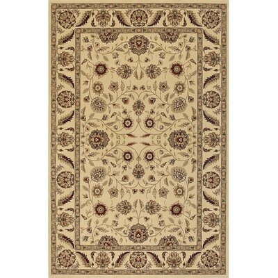 Campagna Brown & Tan Area Rug Rug Size: 53 x 74