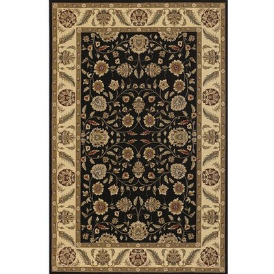 Diamond Black & Tan Area Rug Rug Size: 111 x 37