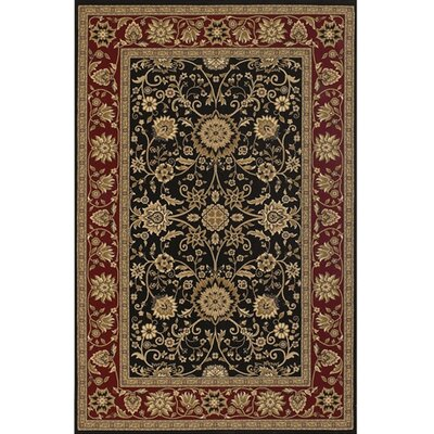 Campagna Black & Red Area Rug Rug Size: 111 x 37