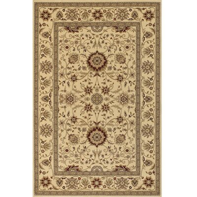 Diamond Brown & Tan Oriental Area Rug Rug Size: 53 x 74