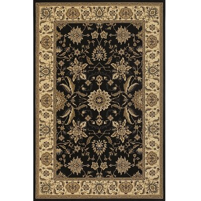Diamond Black/Tan Area Rug Rug Size: 111 x 37