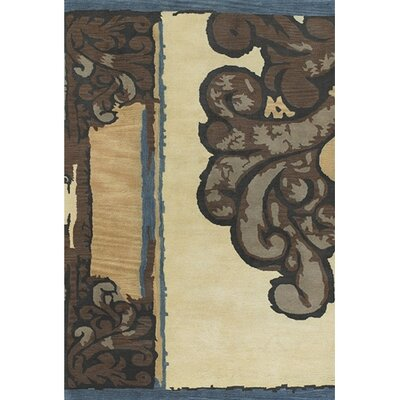 Caston Ivory/Brown Area Rug Rug Size: Rectangle 79 x 106