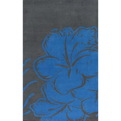 Blue/Gray Area Rug Rug Size: Rectangle 5 x 76