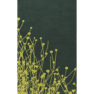 Stodola Green/Yellow Area Rug Rug Size: Rectangle 5 x 76