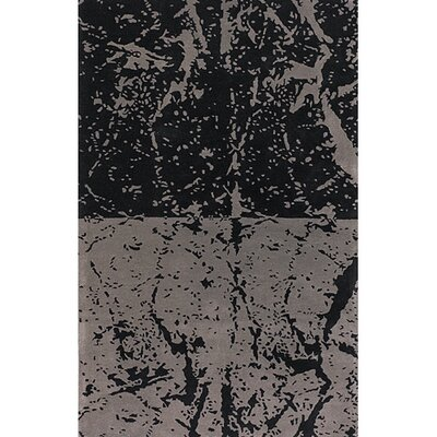 Madhu Black/Gray Area Rug Rug Size: Rectangle 79 x 106