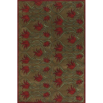 Wool Brown/Tan Area Rug Rug Size: Rectangle 2 x 3