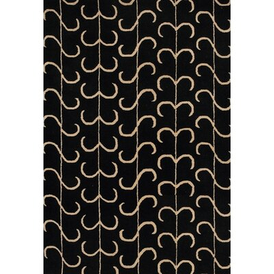 Sidney Black Area Rug Rug Size: 5 x 76