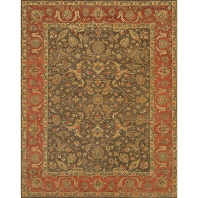 Zambrano Brown/Tan Area Rug Rug Size: Rectangle 6 x 9