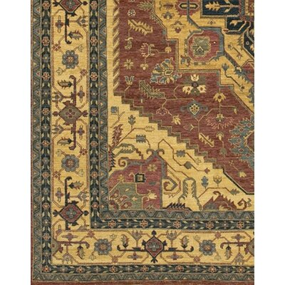 Zambrano Rectangle Red/Biege Area Rug Rug Size: Rectangle 6 x 9