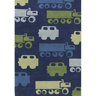 Bentley Blue Car Area Rug Rug Size: 2 x 3