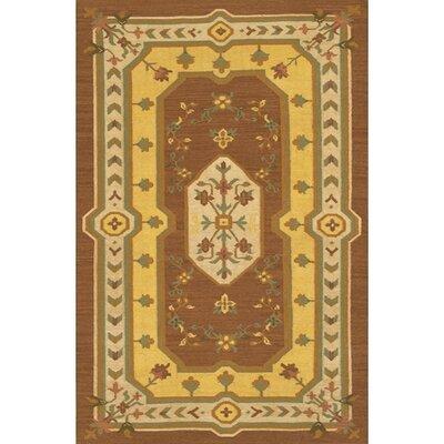 Cavisson Hand Woven Wool Rug Rug Size: 79 x 106