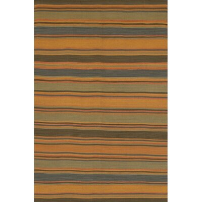 Barbazan Hand Woven Striped Rug Rug Size: 36 x 56