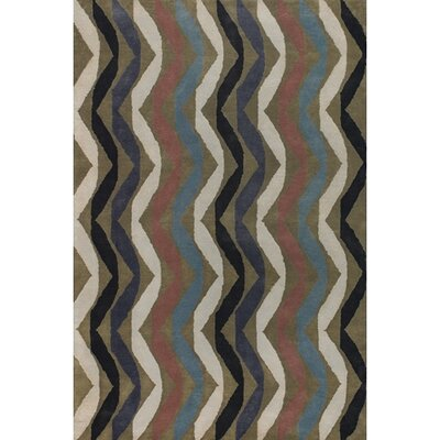 Aurigae Modern Wool Rug Rug Size: Runner 26 x 76