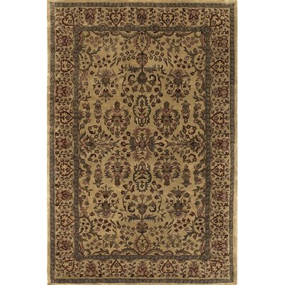 Panna Gold/Yellow Area Rug Rug Size: 2 x 3