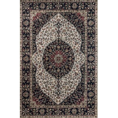 Domingo Black Area Rug Rug Size: 79 x 106
