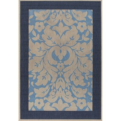 Plaza Lighgt Blue/Ivory Indoor/Outdoor Area Rug Rug Size: 52 x 75
