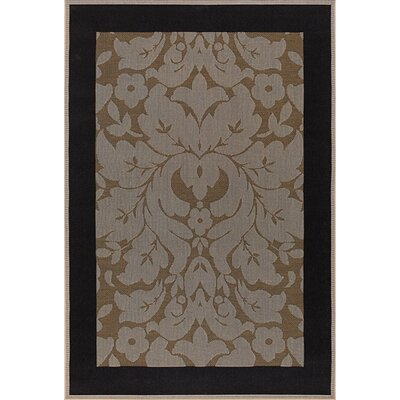 Becking Light Brown Indoor/Outdoor Area Rug Rug Size: 36 x 56
