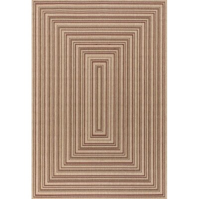 Leibowitz Brown Indoor/Outdoor Area Rug Rug Size: 52 x 75