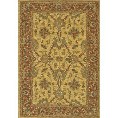 Abell Yellow/Brown Area Rug Rug Size: 2 x 3