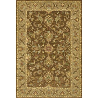 Abell Wool Brown/Tan Area Rug Rug Size: 79 x 106